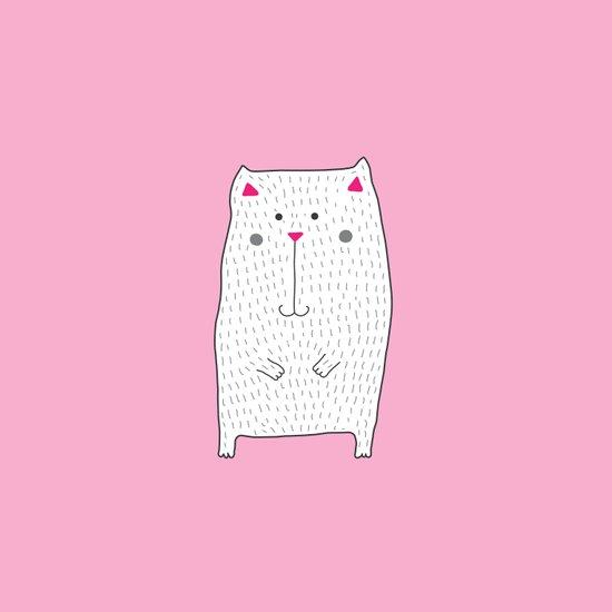 berry kitty Art Print