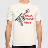 Han Shot First Mens Fitted Tee Natural SMALL