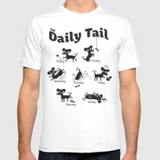 The Daily Tail Dog Mens Fitted Tee White SMALL