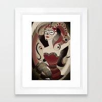 Pinup - Red Framed Art Print