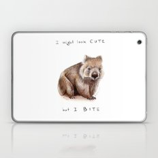 I might look cute, but I bite Laptop & iPad Skin