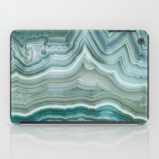 Agate Crystal Blue iPad Case