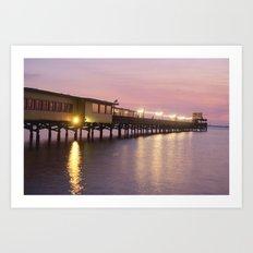 Pier 19 - Dusk Art Print