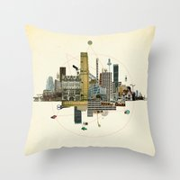 Collage City Mix 8 Throw Pillow