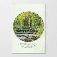 fall leaves + f scott fitzgerald Canvas Print
