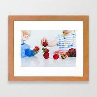 Strawberry Stack Framed Art Print