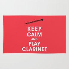 Keep Calm and Play Clarinet Rug