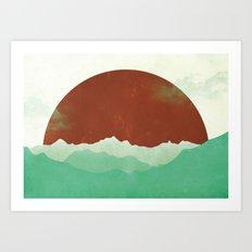 Sunset Valley Art Print