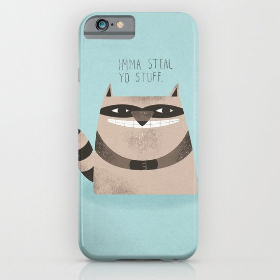 Sneaky Raccoon iPhone & iPod Case