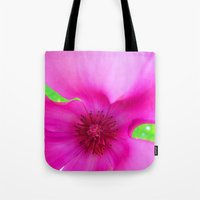 Shocking Pink Flower Tote Bag