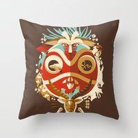 The Days of Gods and Demons Throw Pillow
