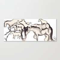 Horse Pattern Canvas Print