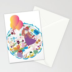 Ambrosia with balloon Stationery Cards