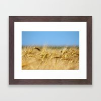 Blue & Gold Framed Art Print