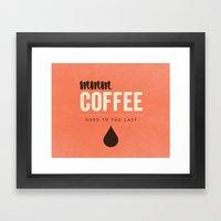 Mmm Coffee Framed Art Print