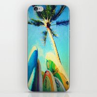 Surfboards And Palms iPhone & iPod Skin