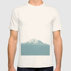 Portland Snowcaps SMALL Natural Mens Fitted Tee