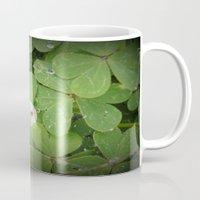 Rain on leaves Mug