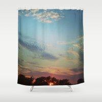 Dark Clouds File In When… Shower Curtain