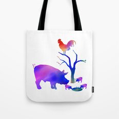 Pigs on the farm Tote Bag
