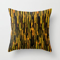 vertical brush orange version Throw Pillow