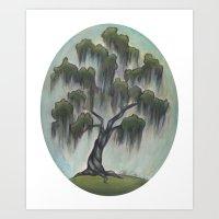 Sunny Live Oak Art Print