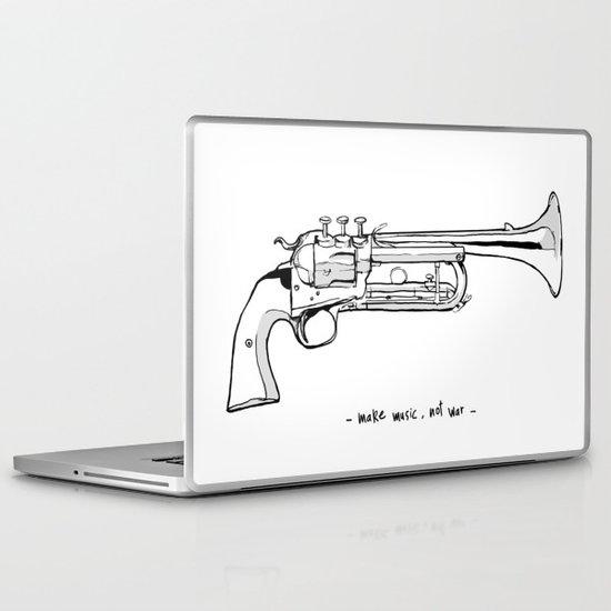 Make music, not war. Laptop & iPad Skin