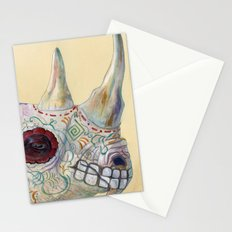 Day of the Dead Rhino Stationery Cards