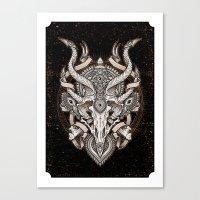 Siren Skull Canvas Print