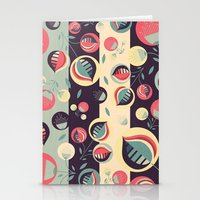 50's Floral Pattern II Stationery Cards