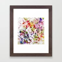 Multicolore Abstract Fuc… Framed Art Print