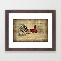 Merry Christmas And Happ… Framed Art Print