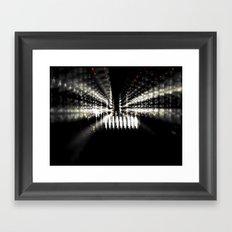Black N Red Framed Art Print