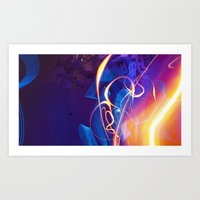 Chaos And Lines - Intro … Art Print