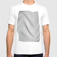 Minimal Curves Mens Fitted Tee White SMALL