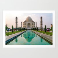 Taj Mahal at Sunset Art Print