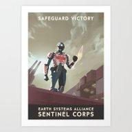 Mass Effect 3- Sentinel … Art Print