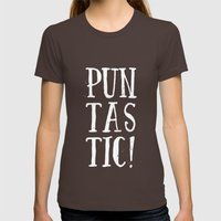 Puntastic! Womens Fitted Tee Brown SMALL