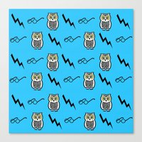 A Pattern For Wizards Canvas Print
