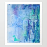 Watercolor Blue Art Print