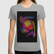 Abstract Perfection 59 Womens Fitted Tee Athletic Grey SMALL