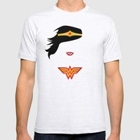Wonder Girl Mens Fitted Tee Ash Grey SMALL