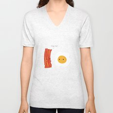 Would you be the bacon to my eggs? Unisex V-Neck
