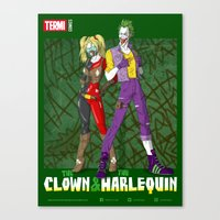 THE CLOWN & THE HARLEQUIN Canvas Print