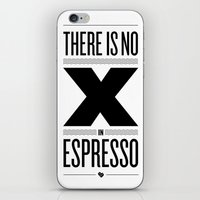 No X in Espresso – Black iPhone & iPod Skin