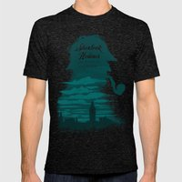 Elementary, my dear Watson. Mens Fitted Tee Tri-Black SMALL