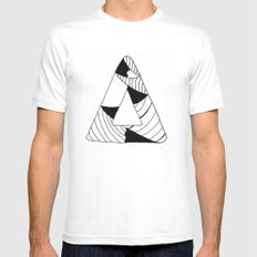 Personal Stormer Triangle SMALL White Mens Fitted Tee