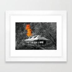 The Old Train Station Framed Art Print