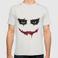 SMILE Mens Fitted Tee Silver SMALL