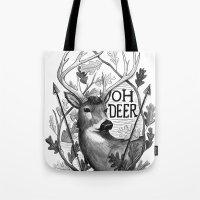Oh Deer B&W Tote Bag